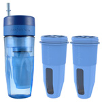 Zero Water Tumbler Bundle 2 Pack Portable Travel Bottle with Filters 95622-5