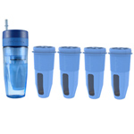 Zero Water Tumbler Bundle 4 Pack Portable Travel Bottle with Filters 95623-5